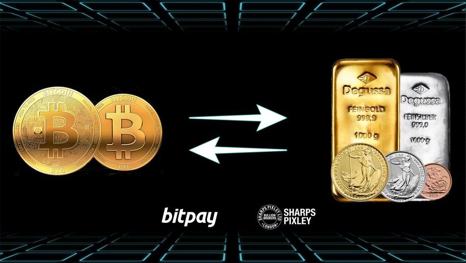Sharps Pixley convert BTC into Gold and Gold back into BTC. (PRNewsfoto/Sharps Pixley)