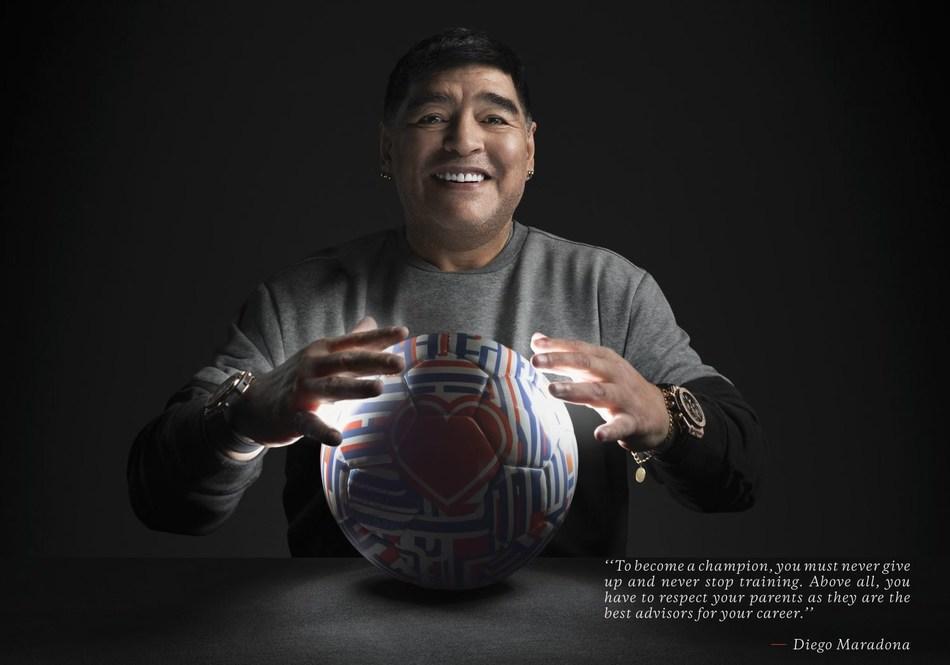 Hublot Ambassador Diego Maradona - Champion advice (PRNewsfoto/Hublot)