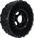 The New MICHELIN X TWEEL UTV is appropriate for use on construction, farm, landscape, recreation, quarry, mine, emergency service response, logging, parks, hunting, military operations, universities, beach patrol, camping, hurricane/tornado and other debris-laden areas where flat tires cause serious and extreme interruptions.