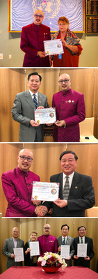 Chairmen of the Strategic Alliance of Asian-American Non-Profit Organizations, NGO of United Nations, Appointed as the Honorary Chairmen of World Trade United Foundation