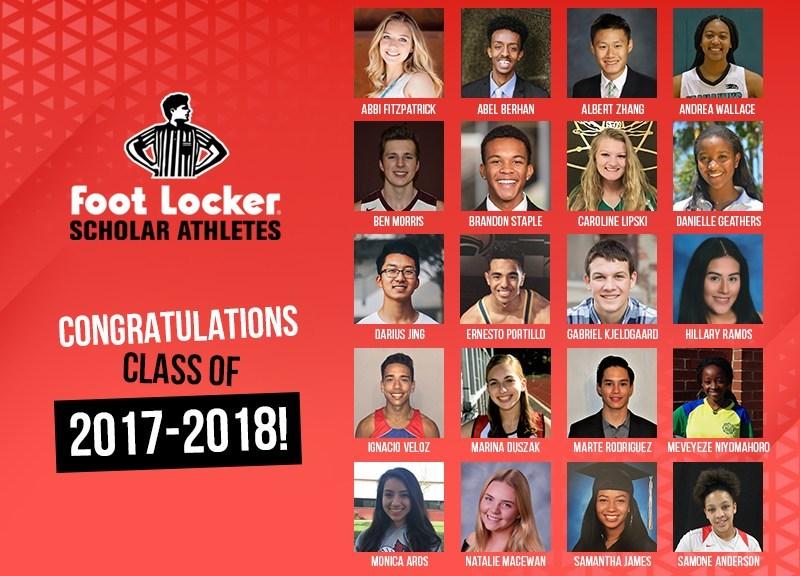 Congratulations Foot Locker Scholar Athletes Class of 2017-2018