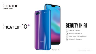 Honor 10 : La beauté dans l'intelligence artificielle (PRNewsfoto/Honor)