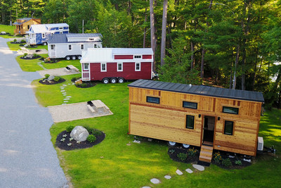 FREE Tiny Open House at Tuxbury Pond RV Resort on Saturday, May 19th Tour all five tiny houses!