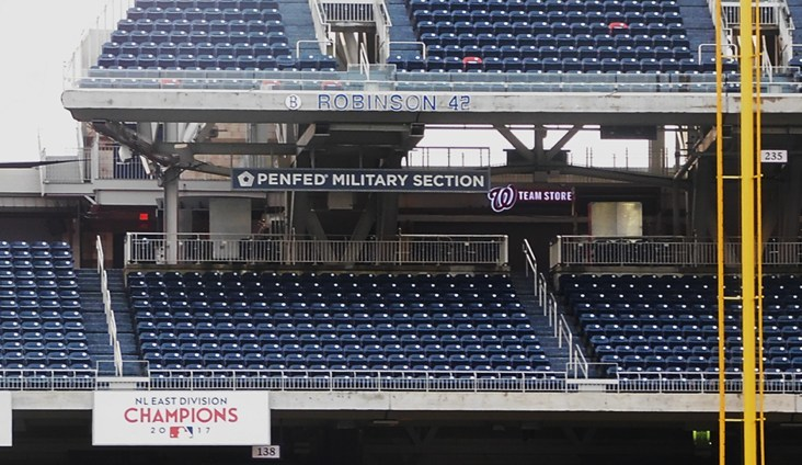 """It's opening day for the new """"PenFed Military Appreciation Section"""" at Nationals Park."""