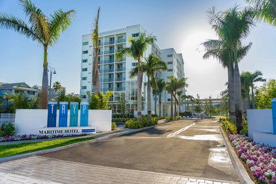 TRYP by Wyndham Maritime Fort Lauderdale, above, today opened its doors in the 'Yachting Capital of the World' showcasing nautical-inspired design and amenities that make use of the local marina.