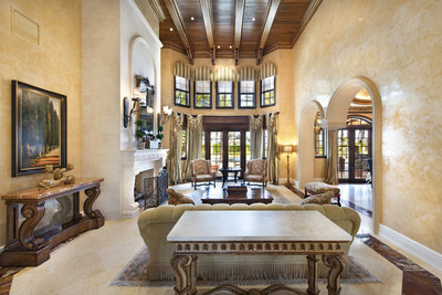 The grand salon is perfect for large families or for entertaining guests. More at FLLuxuryAuction.com.