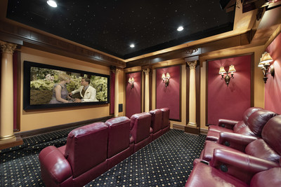 A custom home theater offers the perfect venue for NetFlix binge-watching. More at FLLuxuryAuction.com.