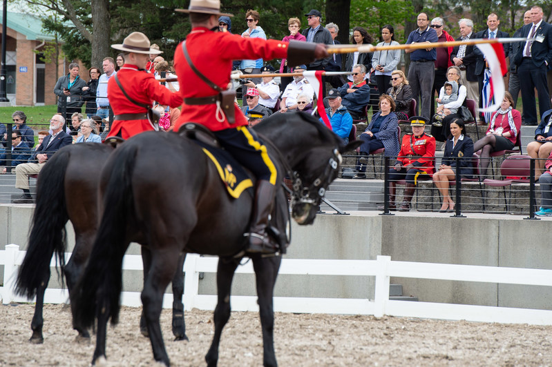 Today, RCMP Commissioner Brenda Lucki visited the Musical Ride stables to perform the annual inspection of the RCMP. (CNW Group/Royal Canadian Mounted Police)