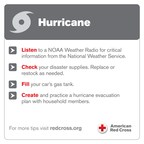Make sure you are prepared for hurricane season with these Red Cross tips. For more information visit redcross.org.