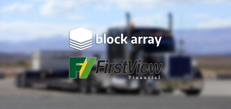 BlockArray and FirstView Financial bring traditional banking and finance onto the blockchain.