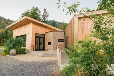 The Living Building-certified tasting room at Cowhorn Vineyard & Garden, designed and built by Green Hammer, is the first winery to earn the world's most stringent green building standard.