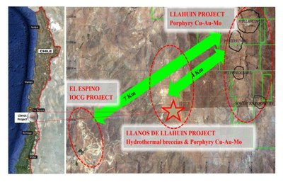 Figure 1:  Location of the Llanos de Lhaluin Project (CNW Group/Aethon Minerals)