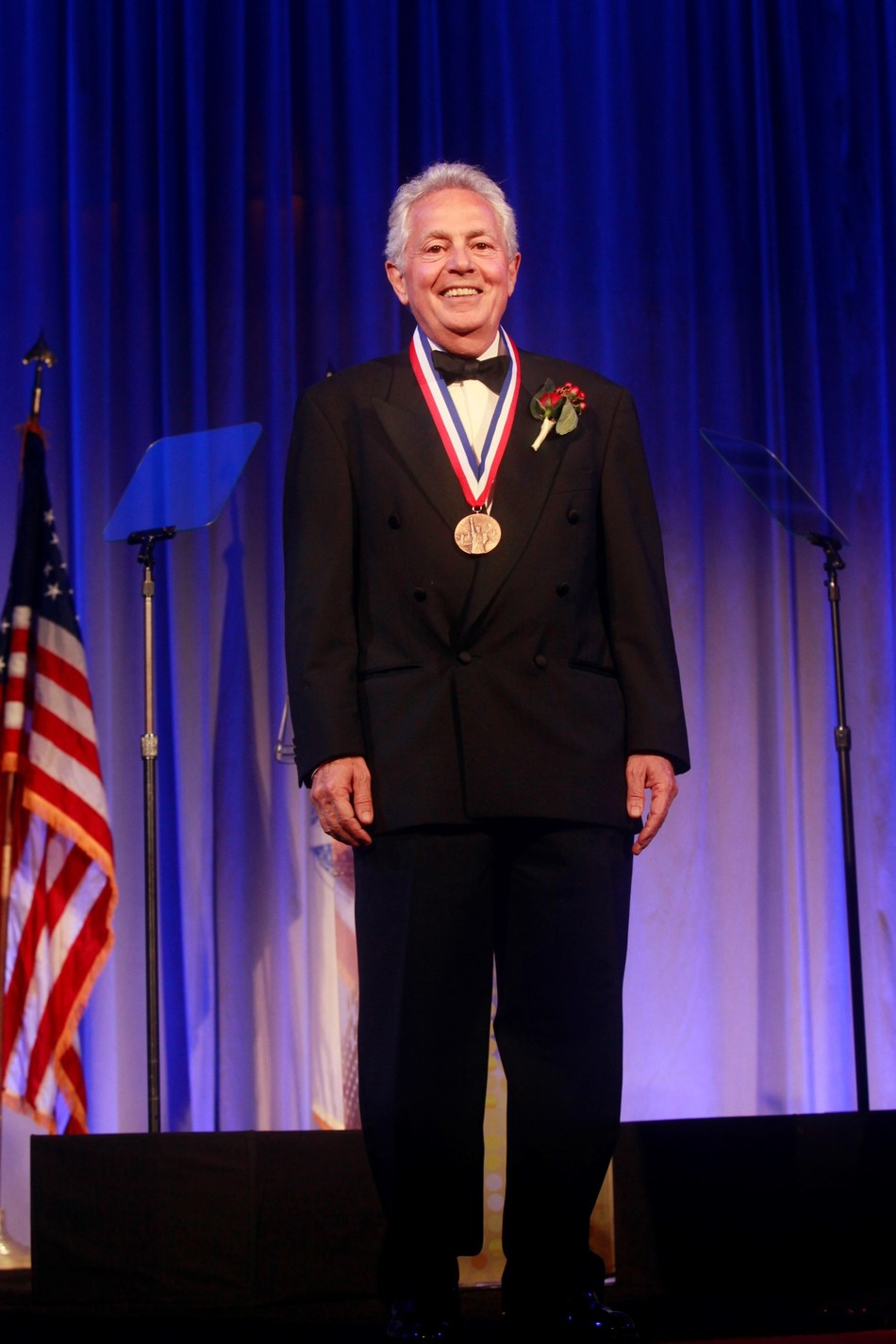 Albert Salama, Founder and CEO of Sabert Corporation, receives 2018 Ellis Island Medal of Honor.