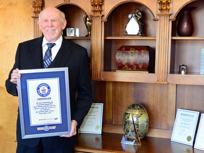 America's number one ranked real estate agent, Ben Caballero of Addison, Texas, just became the number one real estate agent in the world, according to Guinness World Records.