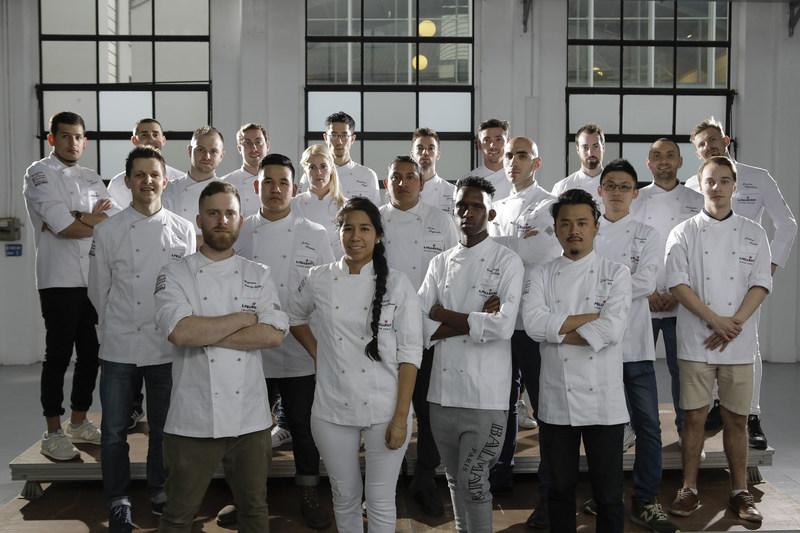 Concurrents lors de la grande finale du S. Pellegrino Young Chef 2018 (Groupe CNW/S. Pellegrino)