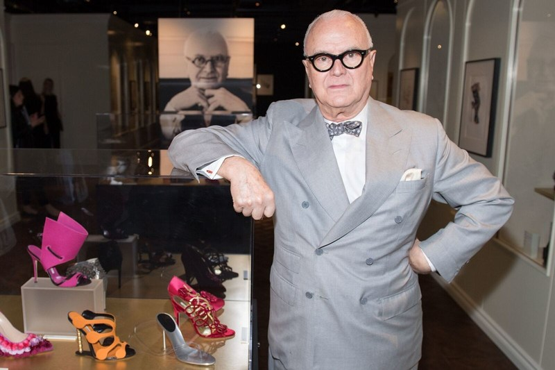 "Mr. Manolo Blahnik at the opening of ""Manolo Blahnik: The Art of Shoes"" exhibition at the Bata Shoe Museum in Toronto. (Photo Ryan Emberley) (CNW Group/Bata Shoe Museum)"