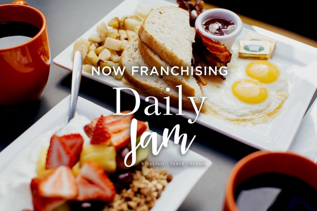 Daily Jam now offering franchise development opportunities in select markets throughout the United States.