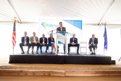 Nevada Governor Brian Sandoval speaks at the Fulcrum Sierra BioFuels Groundbreaking