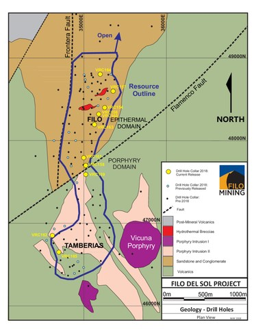 Map for Filo News Release 051618 (CNW Group/Filo Mining Corp.)