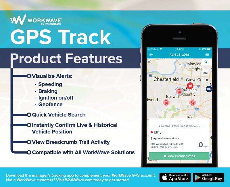 WorkWave: GPS Track mobile app allows businesses to see entire fleet's location from almost any device