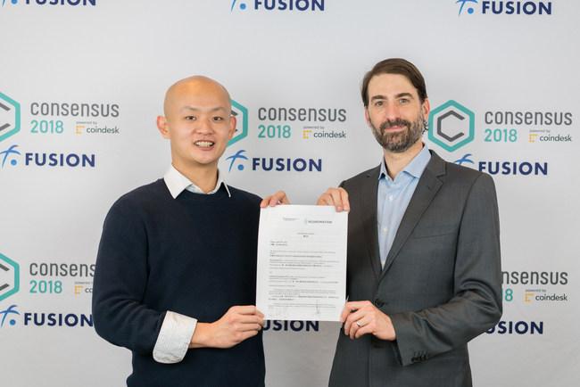Enzo Wang, Linfinity CEO and Arthur McCallum, VP Digital Economy Neuromation