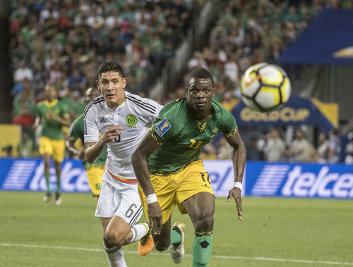 Sports Authority Field at Mile High will host part of the 2019 CONCACAF Gold Cup. Pictured: Mexico vs. Jamaica compete at Sports Authority Field at Mile High in the 2017 CONCACAF Gold Cup.