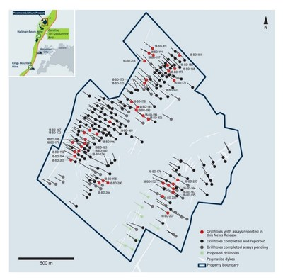 Piedmont Lithium Project Drill Location Figure Map