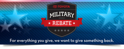 Toyota has a special offer for our troops!