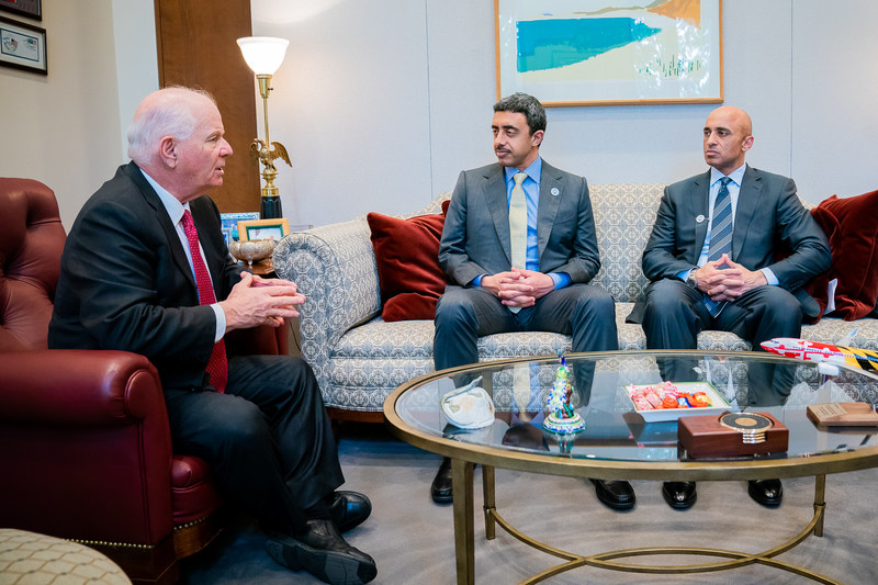 United Arab Emirates Foreign Minister, Sheikh Abdulla bin Zayed Al Nahyan meets with congressional leadership on Capitol Hill, Washington, DC