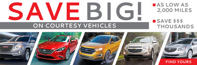 Courtesy vehicles from multiple brands offer savings to prospective car buyers near Fond du Lac.