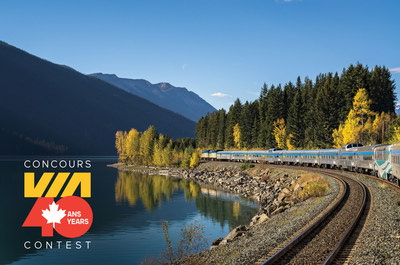 VIA Rail has launched the VIA40 Contest, giving the chance to win one of 40 anniversary tickets, valid for a round trip for two to travel from coast to coast or to any other destination served by VIA Rail (CNW Group/VIA Rail Canada Inc.)
