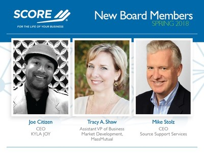SCORE, the nation�s largest network of volunteer, expert business mentors, is pleased to announce three new additions to its board of directors, which helps guide the organization in its mission to foster vibrant small business communities through mentoring and education.