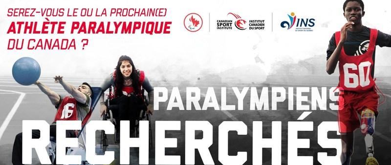 Le Comité paralympique canadien se lancera à la recherche des futurs grands athlètes du Canada lors de deux événements Paralympiens recherchés qui se tiendront à Victoria et à Montréal, le 26 mai et le 9 juin. (Groupe CNW/Canadian Paralympic Committee (Sponsorships))