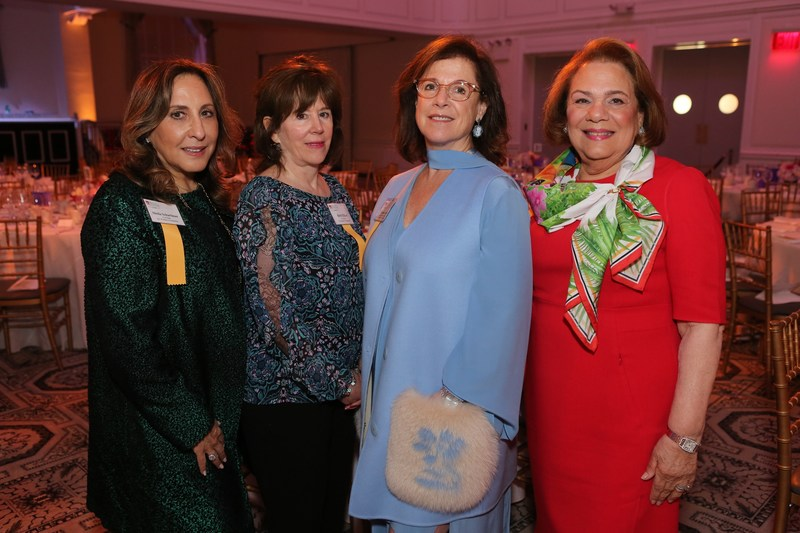 Luncheon Committee Co-Chairs.  From L to R: Sheila Scharfman, Beth Elliott, Virginia Silver and Carole Mallement.  Carole Mallement and Virginia Silver are also members of the Brain & Behavior Research Foundation Board.