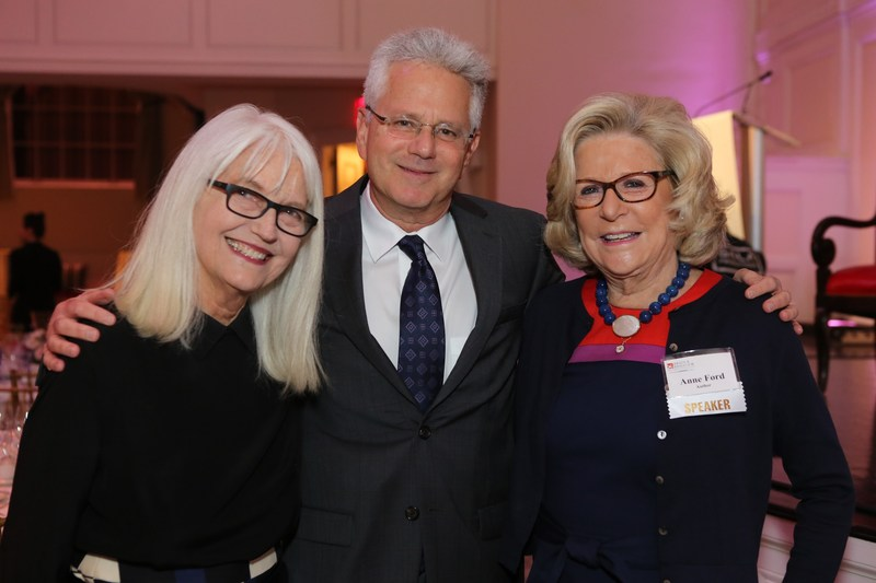 L to R:  Ellen Levine, advisor & consultant, Hearst; Jeffrey Borenstein, M.D., President & CEO, Brain & Behavior Research Foundation, and Anne Ford, author, advocate & philanthropist.