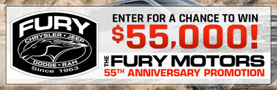With the Fury Motors 55th Anniversary Promotion, Twin Cities area residents can enter for a chance to win $55,000 from the Fury Motors dealership group.