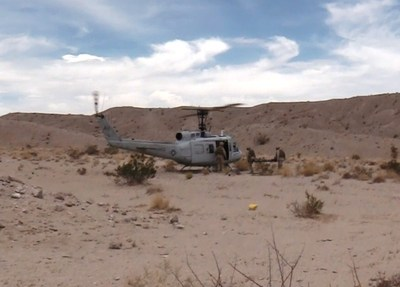 The AACUS enabled UH-1H helicopter successfully completed an autonomous cargo sustainment flight.