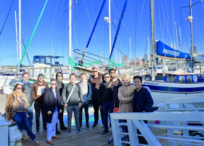 Members of the Chronicled Team on a sailing trip in the San Francisco Bay.