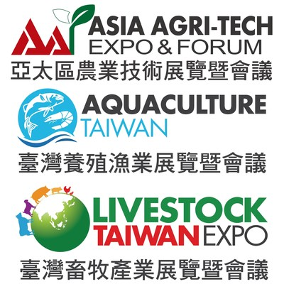 Asia Agri-Tech Expo and Forum, Aquaculture Taiwan Expo and Forum and Livestock Taiwan Expo and Forum Logo