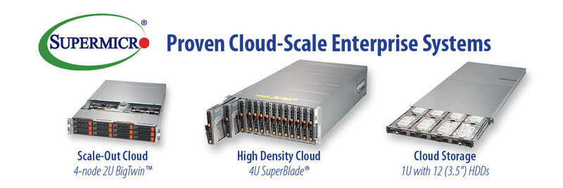 Supermicro accelerates time-to-deployment for enterprise cloud datacenters.