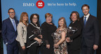 Local honourees recognized through BMO Celebrating Women in Saint John, New Brunswick. L – R: Korey Nixon, Private Wealth Consultant, New Brunswick & Prince Edward Island, BMO Private Banking; Aaron Naccarato, Regional Vice President, Western New Brunswick, BMO Bank of Montreal; Anne McShane, BMO Celebrating Women 2018 Community & Charitable Giving Honouree – Saint John; Alaina Lockhart, Parliamentary Secretary for Small Business & Tourism, and MP Fundy Royal; Wendy Southworth, BMO Celebrating Women 2018 Expansion & Growth in Small Business Honouree – Saint John; Erika Jones, BMO Celebrating Women 2018 Expansion & Growth in Small Business Honouree – Saint John; Trevor Macdougall, Investment Advisor & Assistant Branch Manager, New Brunswick & Prince Edward Island, BMO Nesbitt Burns (CNW Group/BMO Financial Group)