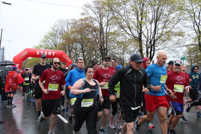 The 15th annual Scotiabank Blue Nose Marathon saw nearly 11,000 racers out this weekend, with more than $500,000 raised for local charities as part of the Scotiabank Charity Challenge.(Photographer - Devon Hartlen) (CNW Group/Scotiabank)