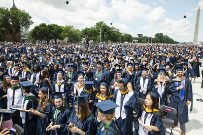 6,000 undergraduate and graduate students received degrees at the George Washington University Commencement on the National Mall.