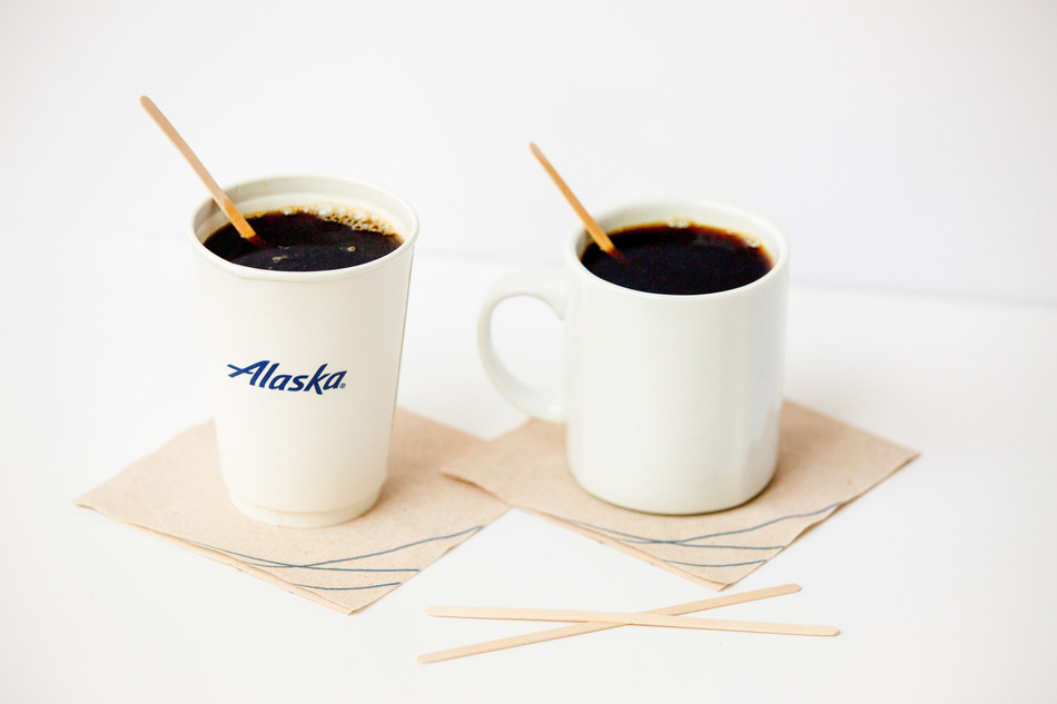 Plastic stir straws will be replaced with Forest Stewardship Council (FSC) certified, white birch stir sticks on all Alaska Airlines flights starting July 16.