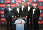 (From left to right)AETOS Capital Group Director of Greater China Region Danny Chan, Senior Vice President Councilor Mike Thomas, the A-League Player of the Year and Golden Boot Award winner Bobo, Sydney FC Chairman Scott Barlow and CEO Danny Townsend (PRNewsfoto/AETOS Capital Group)