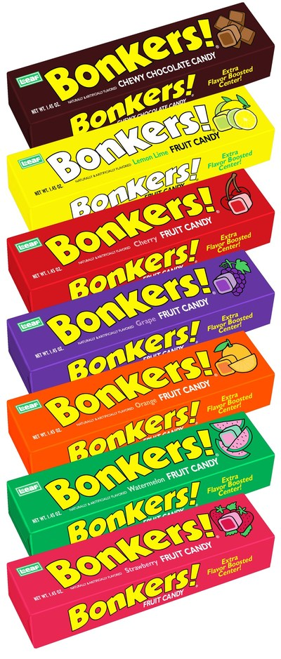 Bonkers! Fruit Chews flavors