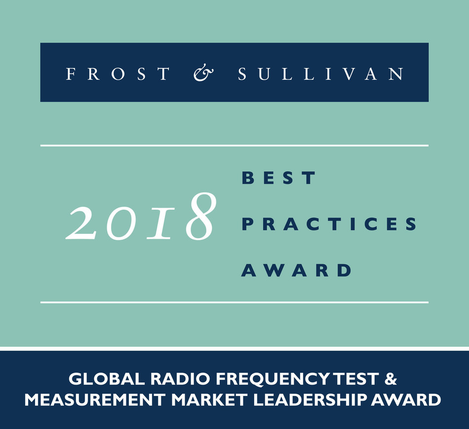 2018 Global Radio Frequency Test & Measurement Market Leadership Award (PRNewsfoto/Frost & Sullivan)
