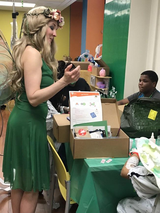 Fairy explaining the module activity
