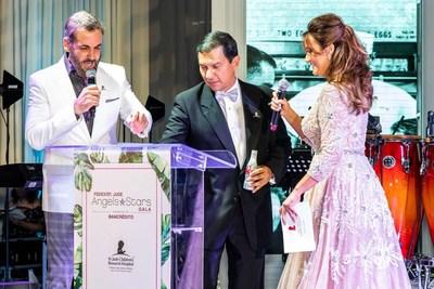 Carlos Ponce, Javier Polit & Karla Monroig at 16 FedEx St. Jude Angels & Stars gala
