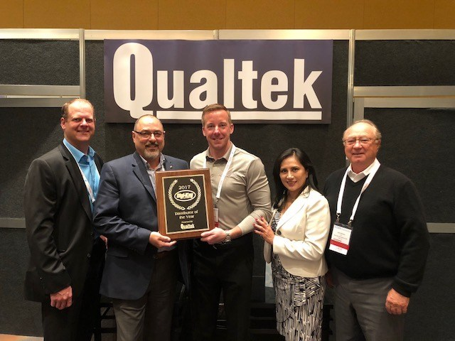 Qualtek Presents Digi-Key with 2017 Distributor of the Year Award